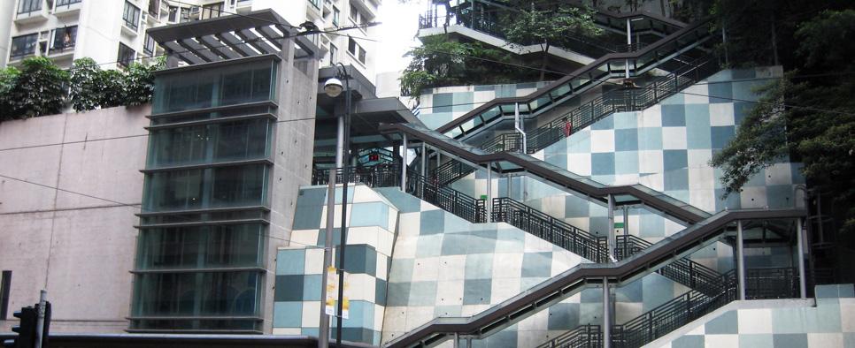 پیاده رو متحرک در تپه های Braemar هنگ کنگ